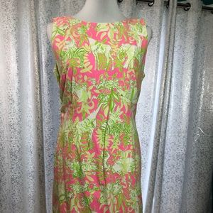 Lilly Pulitzer Dress Green White Pink 10